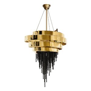 Guggenheim Chandelier Light - gold - black