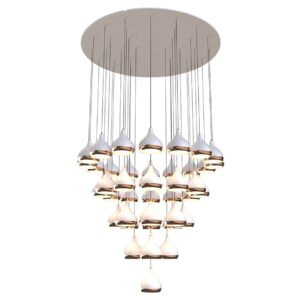 Hanna chandelier light - copper - white