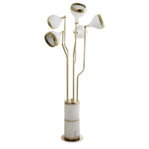 Hanna floor lamp - gold - white