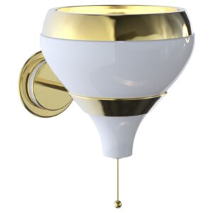 Hanna wall light - white - gold