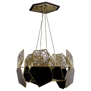 Hypnotic Chandelier Light - black