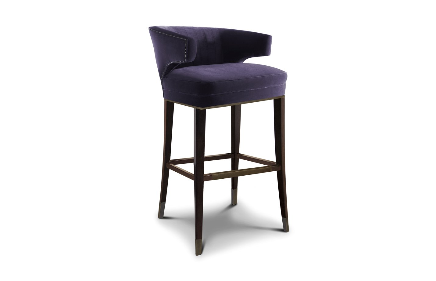 IBIS bar chair – velvet – Purple