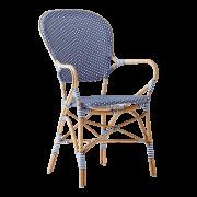 Isabell-chair-armrest-Rattan-aqua-blue
