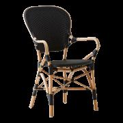 Isabell-chair-armrest-Rattan-black