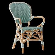 Isabell-chair-armrest-Rattan-salvie-green