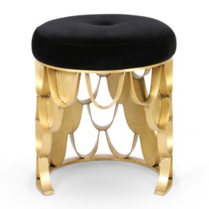 Koi stool - black - gold