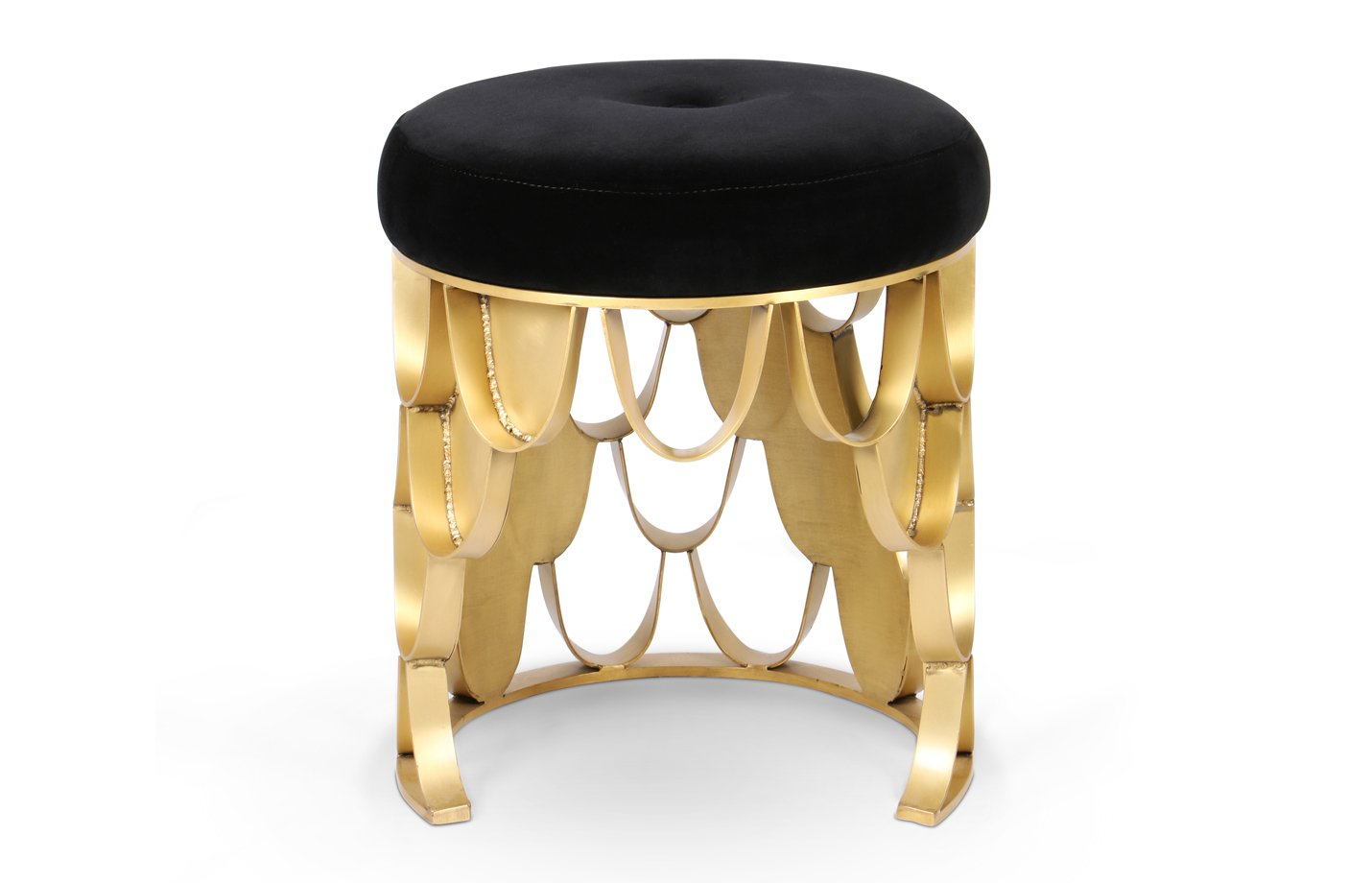 Koi stool – black – gold