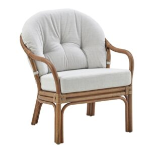 London low back chair - rattan - antique