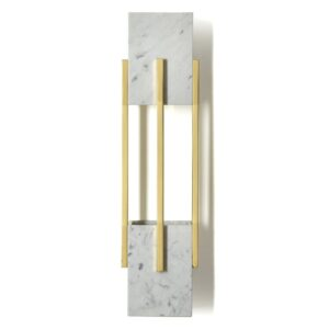 Looshaus wall light - marble - gold-grey