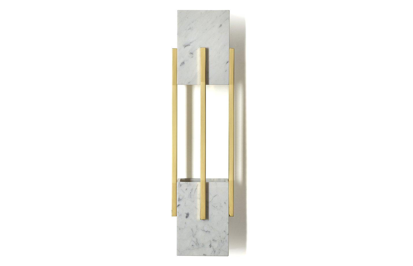 Looshaus wall light – marble – gold-grey