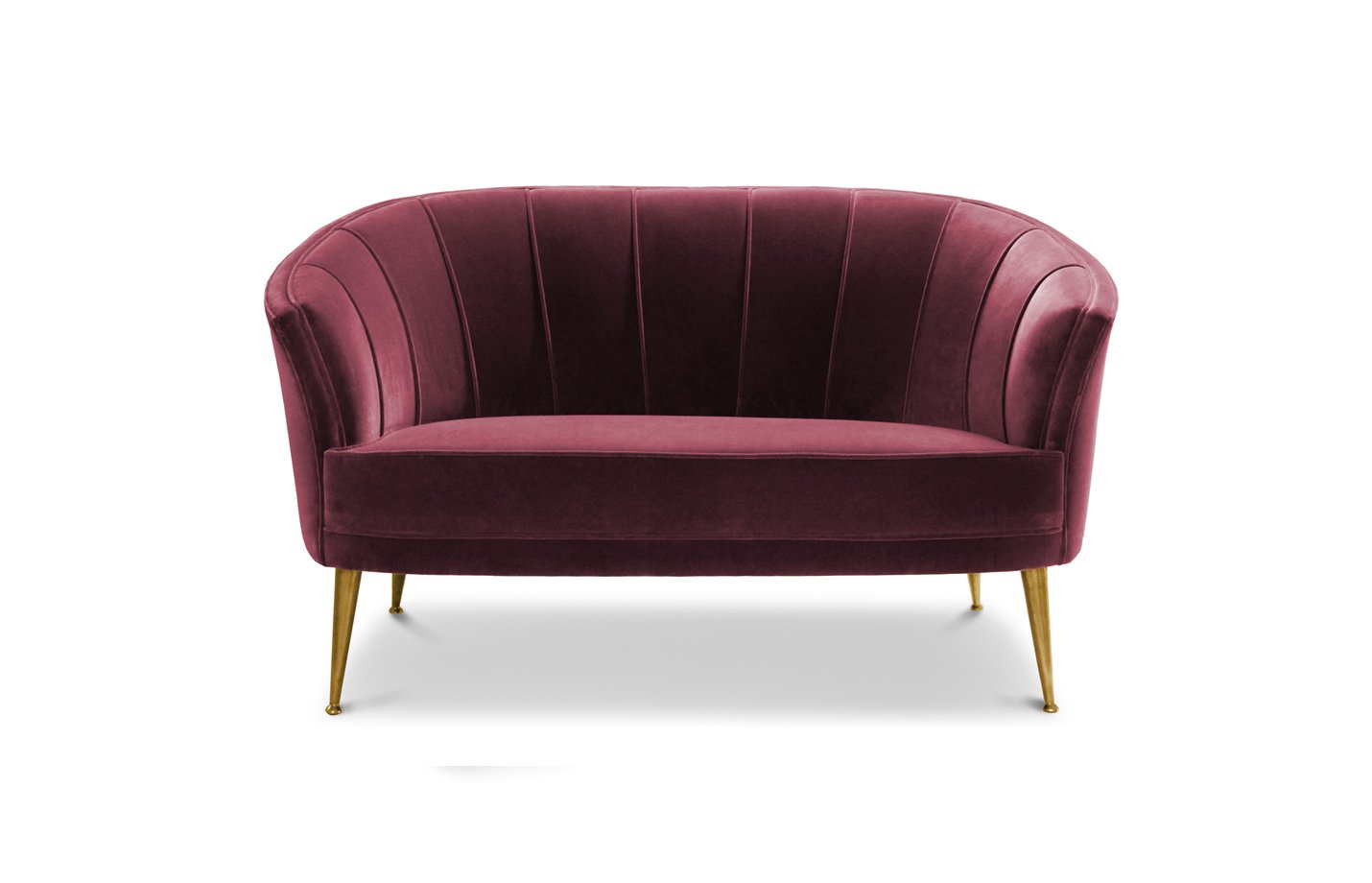 Maya sofa two seater – red