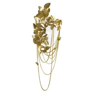 Mcqueen wall lamp - crystals - gold