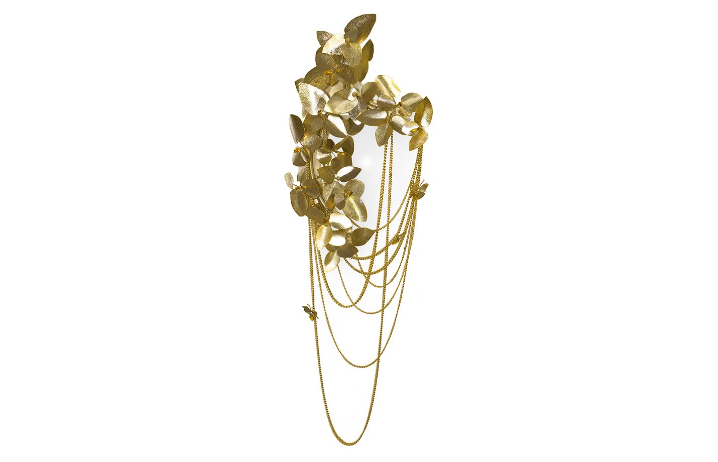Mcqueen wall lamp – crystals – gold