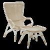 Monet chair - Lounge - Alu Rattan - Dove white