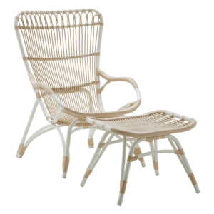 Monet chair - Lounge - Alu Rattan - Dove white
