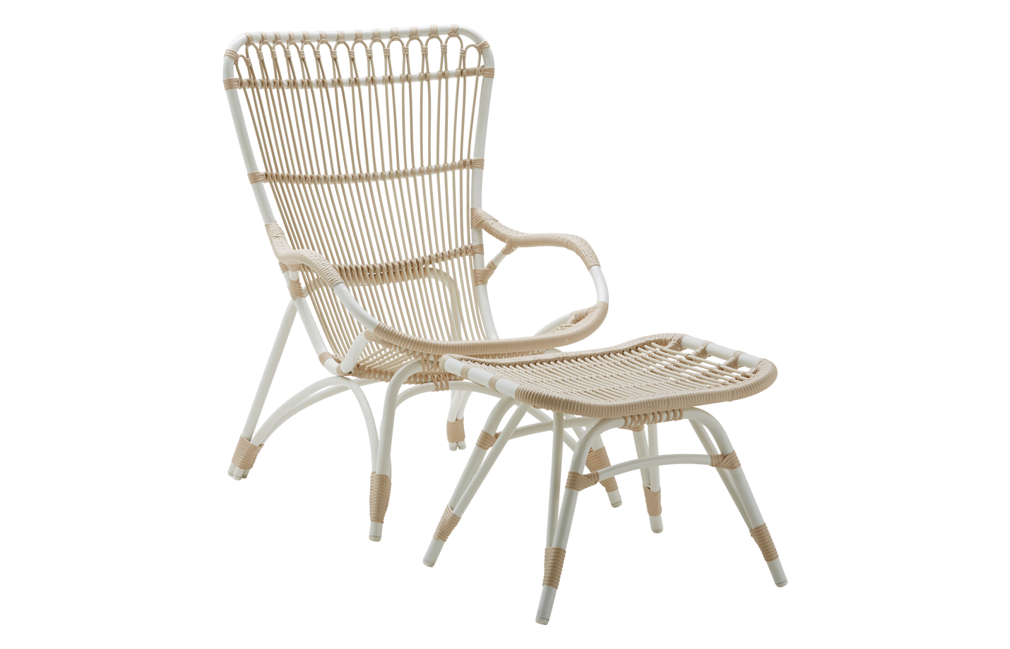 Monet chair – Lounge – Alu Rattan – Dove white