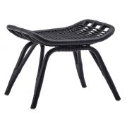 Monet-footstool-Rattan-Black