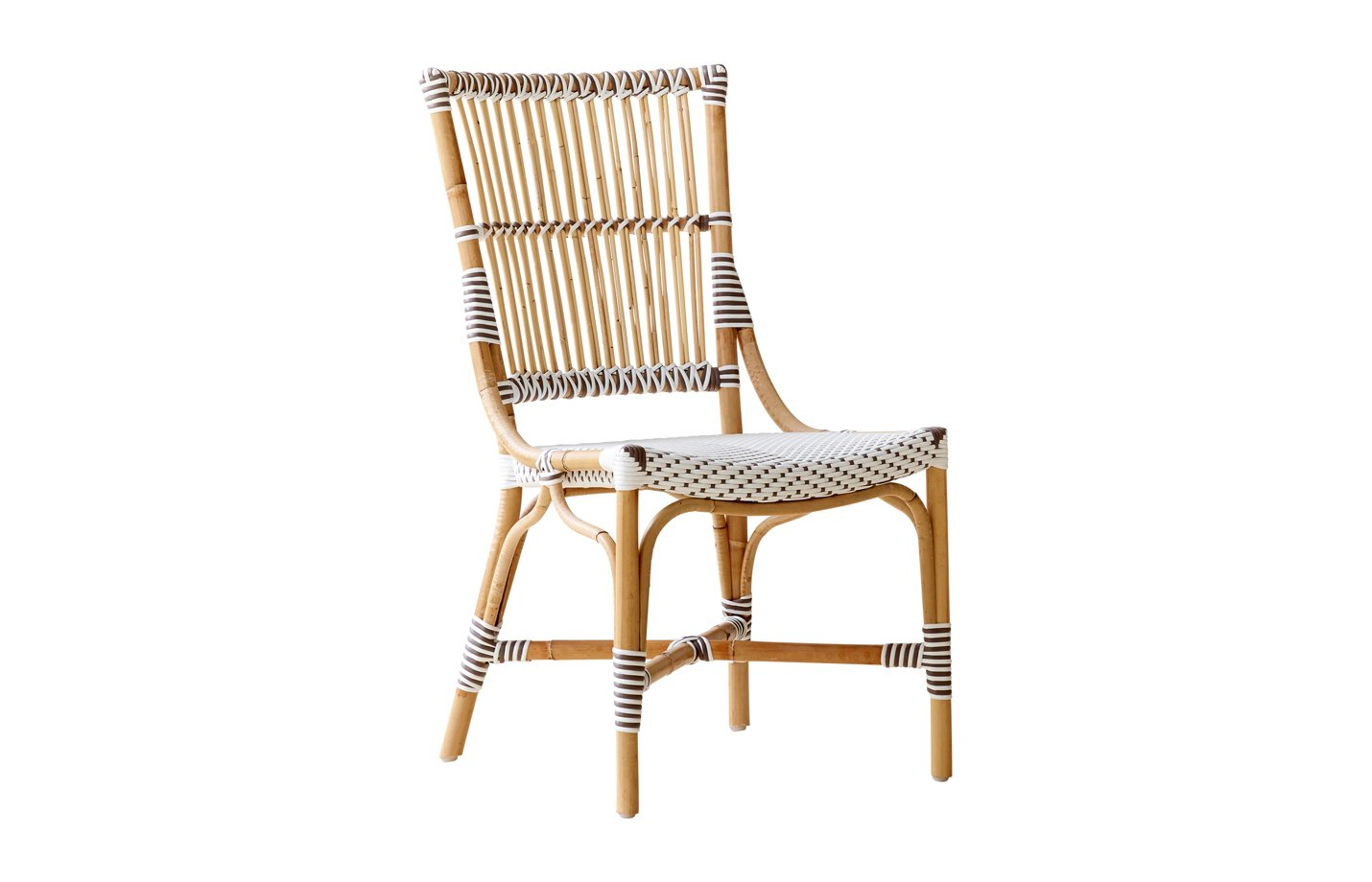 Monique chair – Rattan – White – cappuccino