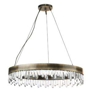 Naicca chandelier light crystal - Brass