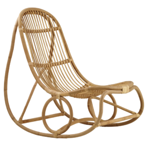 Nanny rocking chair - rattan - natural