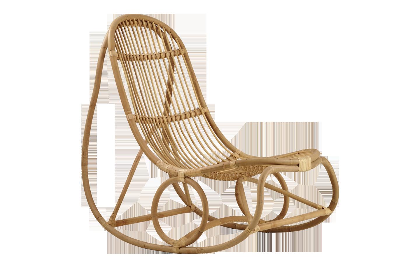 Nanny rocking chair – rattan – natural