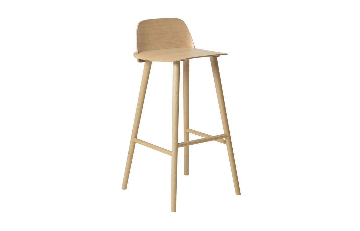 Nerd bar stool – high – Beech