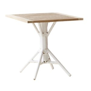 Nicole café table - Rattan - White