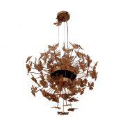Nymph-chandelier-light-brass
