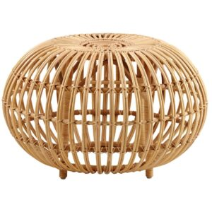 Ottoman large - footstool - rattan - natural