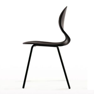 Pikaia-Four-Legs-chair-Black-by-Kristalia