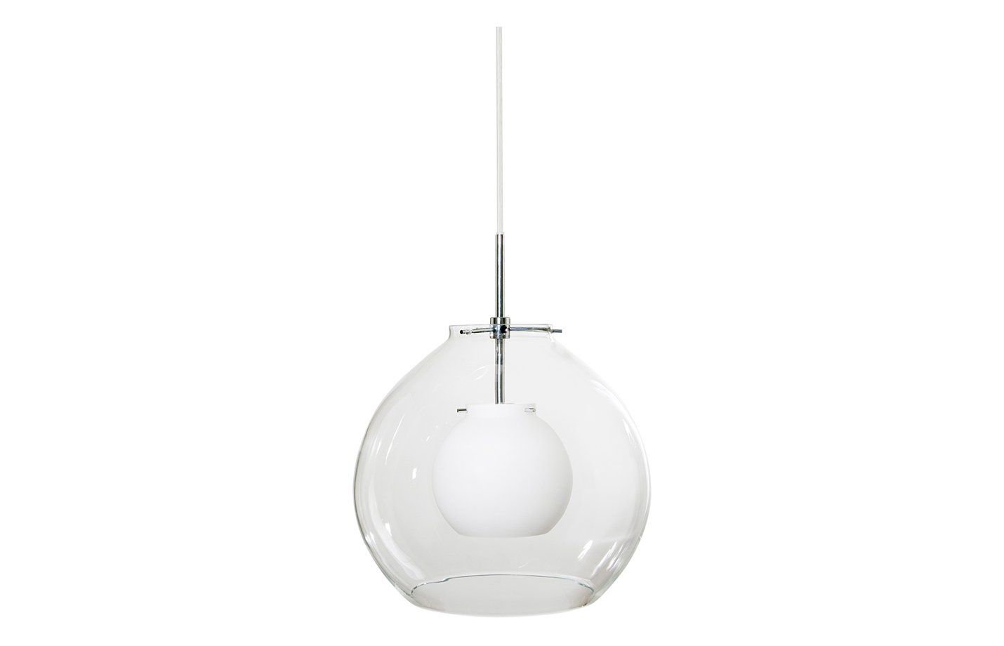Pikant glass pendant lamp – clear