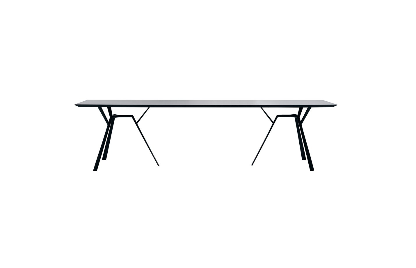 RADICE QUADRA Rectangle table – large – black