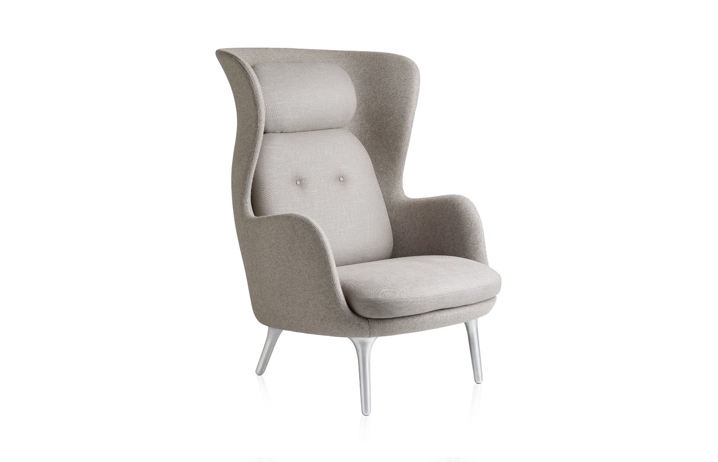 Ro lounge chair – light Grey