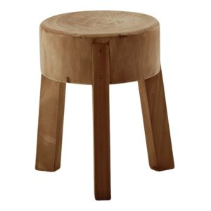 Roger footstool - teak - Brown