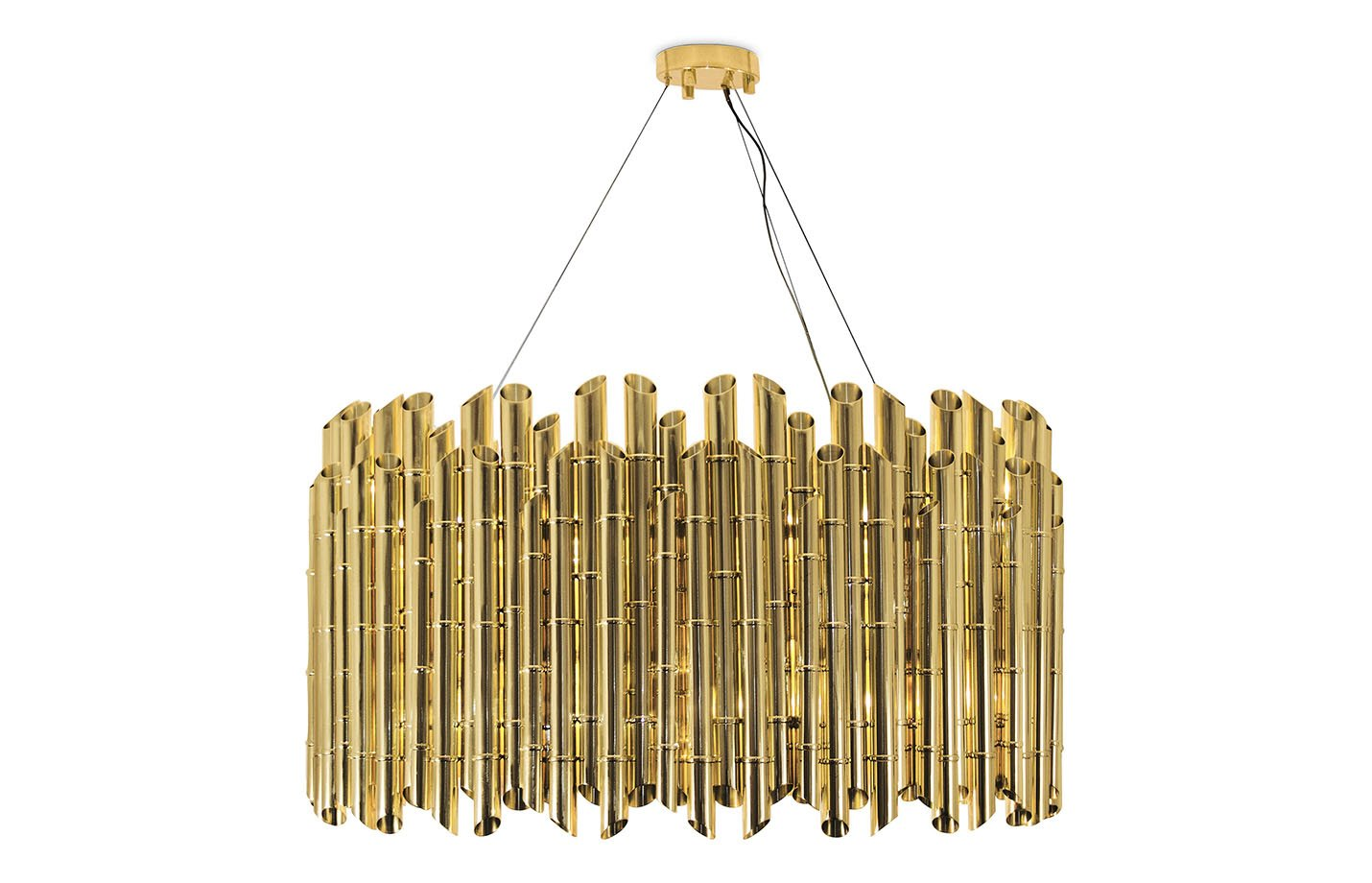 Saki chandelier light – brass