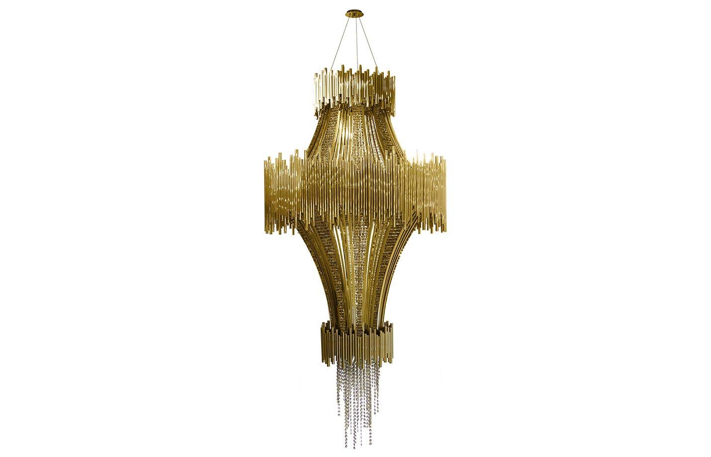 Scala chandelier light – Gold
