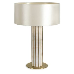 Seagram table lamp white - pearl