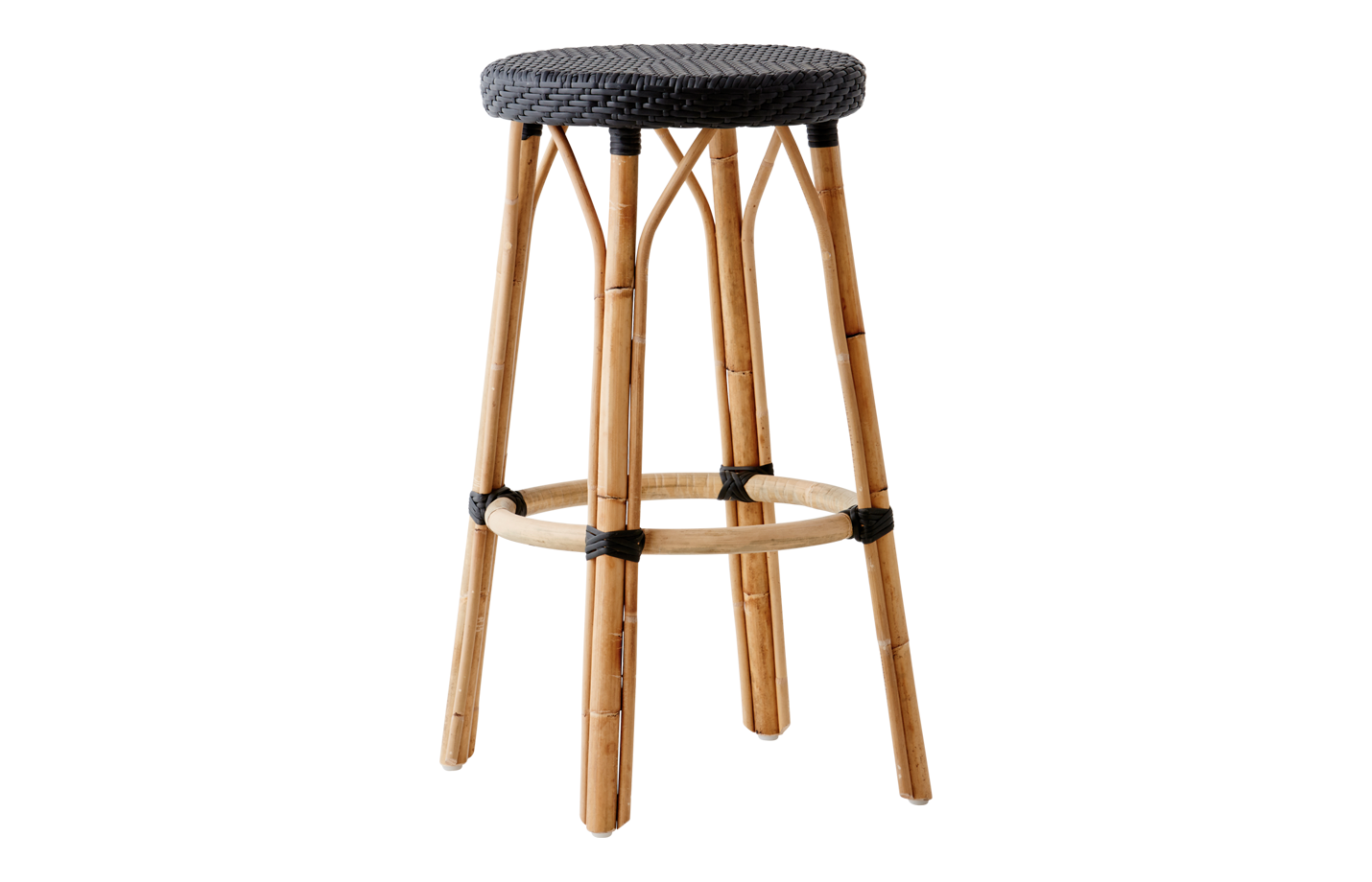 Simone-bar-stool-black-black-dot