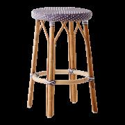 Simone-counter-stool-plum-white-dot