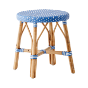 Simone stool-Aqua-blue-White-dot