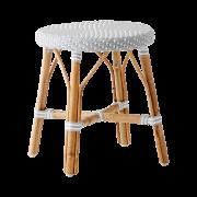 Simone stool-Grey-White-dot