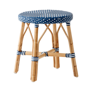 Simone stool - Navy Blue - White-dot