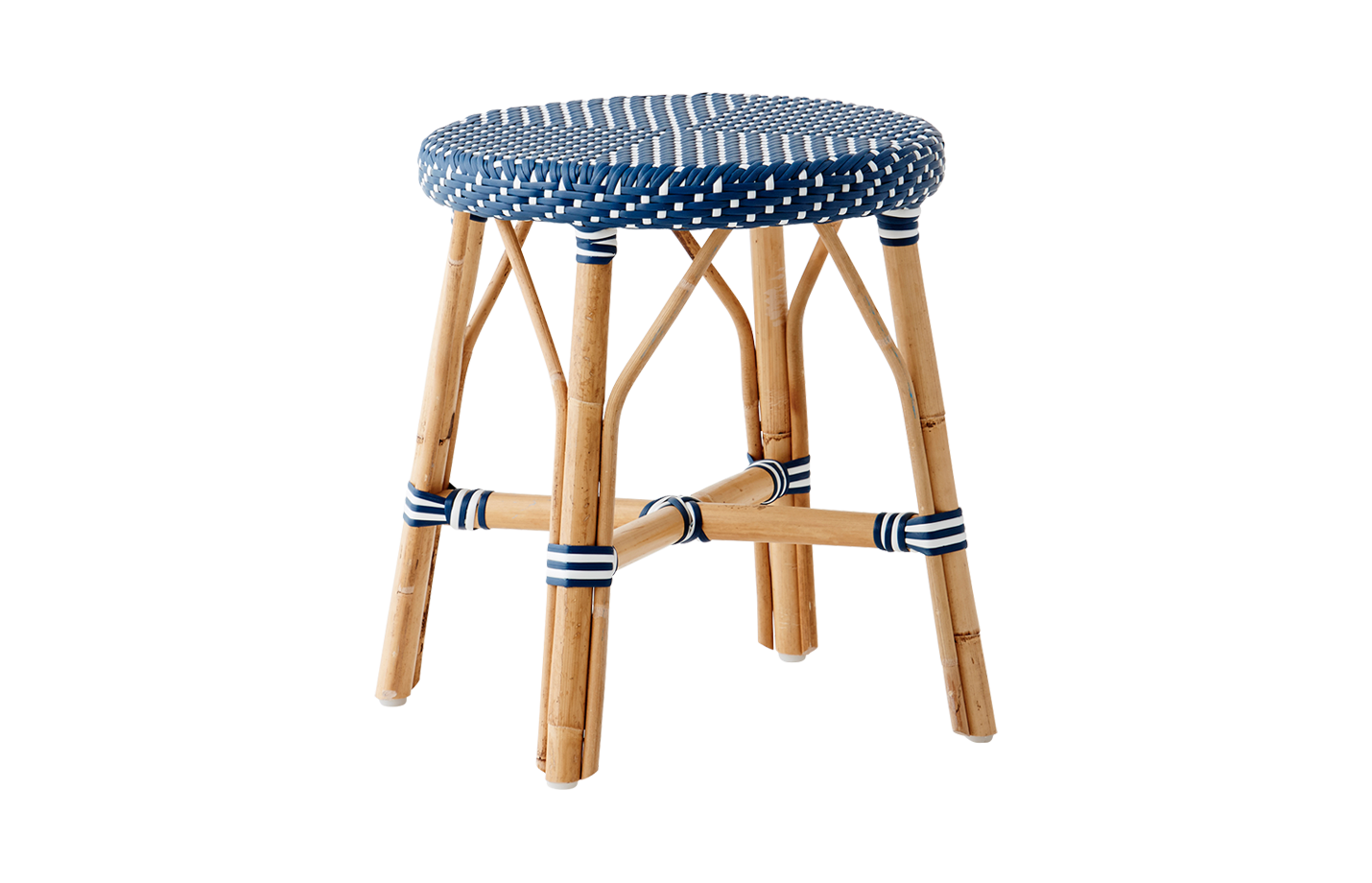 Simone stool – Navy Blue – White-dot