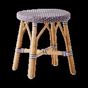 Simone-stool-Plum-White-dot