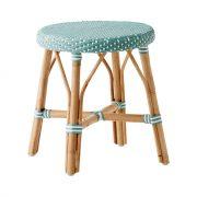 Simone-stool-Salvie-green-White-dot