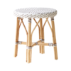 Simone-stool-White-black-dot