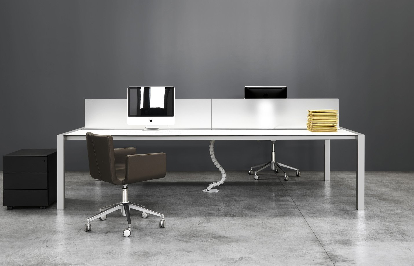 Sushi workstation table – white-front