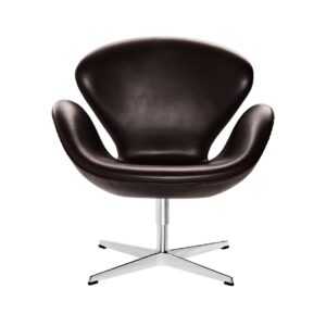Swan-lounge-chair-Leather-Grace-Dark-brown