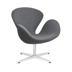 Swan-lounge-chair-fabric-Christianshavn-Light-Grey