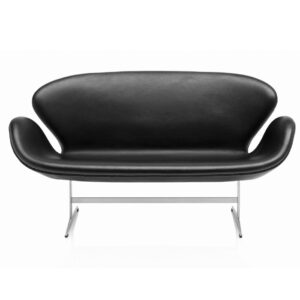 Swan sofa two seater - black